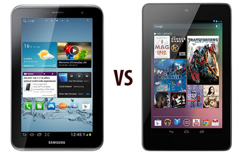Galaxy Tab 2 7.0 vs Nexus 7