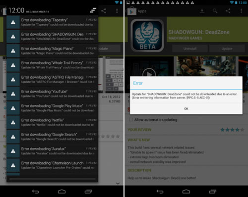 Android 4.2 problem